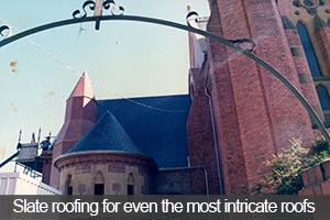 Church and school slate roofing services for even the most intricate slate roofs