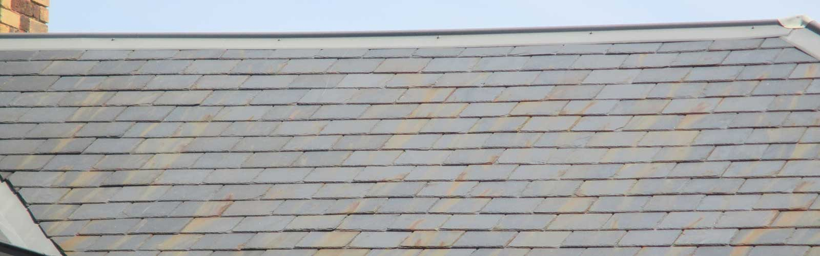 Rust stains on a relatively new slate roof