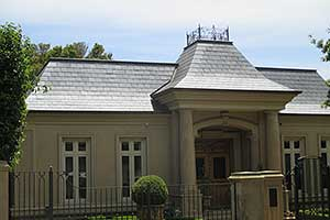 French Providential Canterbury style ornate slate roof
