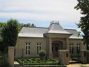 French Provincial style new slate roof