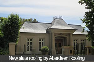 New slate roofing by Abardeen Slate Roofing